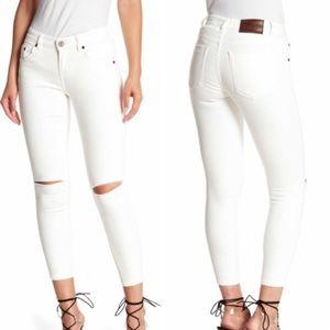 Freebirds ll  skinny  white stretch jeans